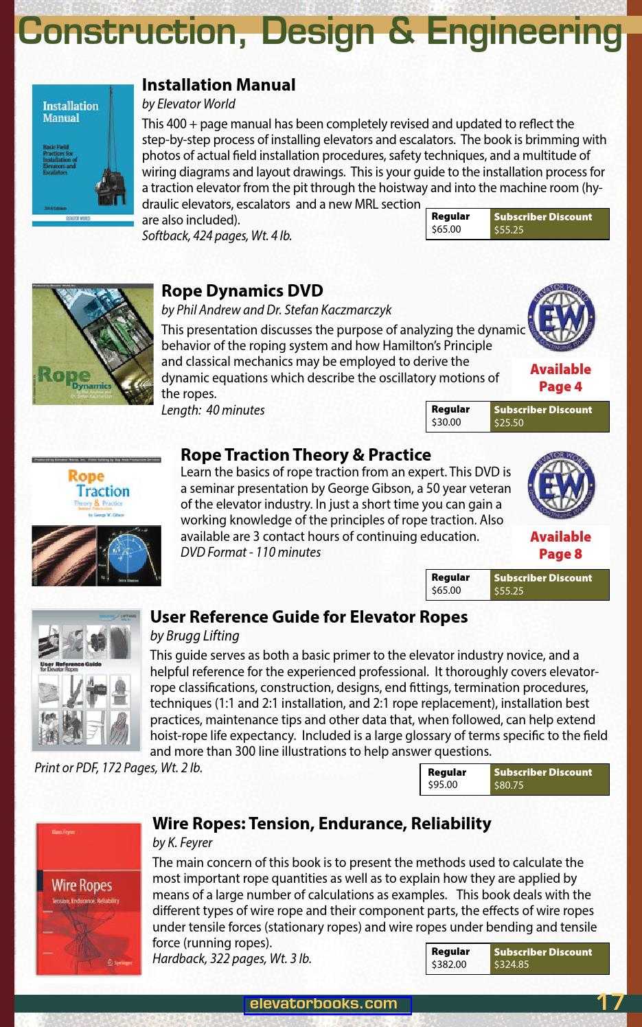 Fall-Winter 2015-16 Educational Materials by Elevator World - issuu