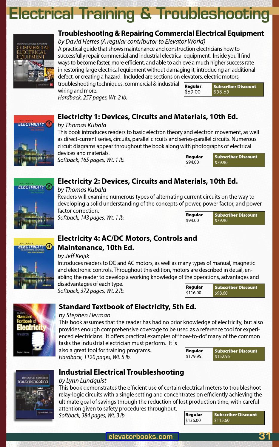 Fall Winter 2015 16 Educational Materials By Elevator World Issuu Circuitforcircuitconceptspage2jpg