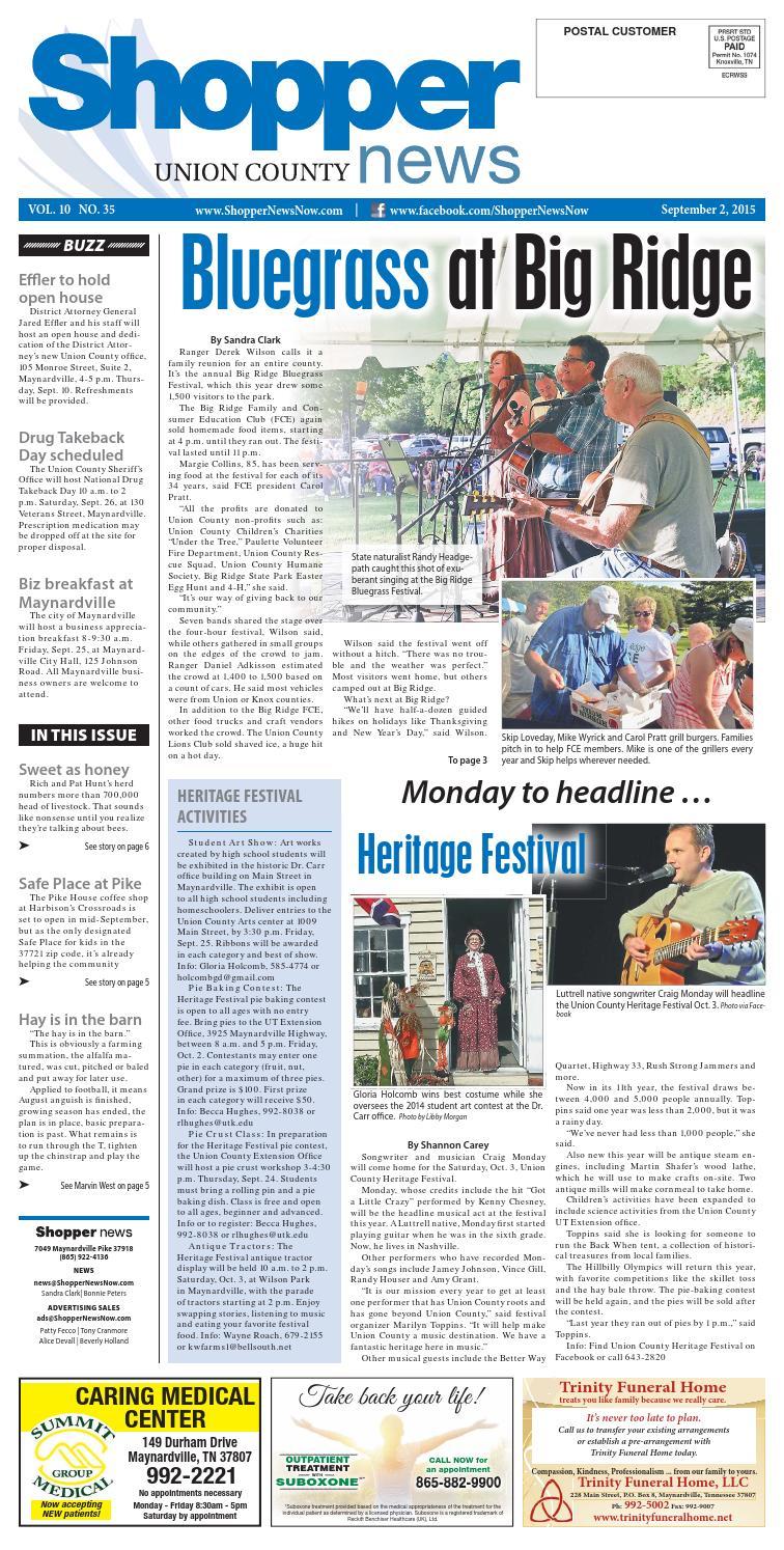 efcfc63ee Union County Shopper-News 090115 by Shopper-News - issuu