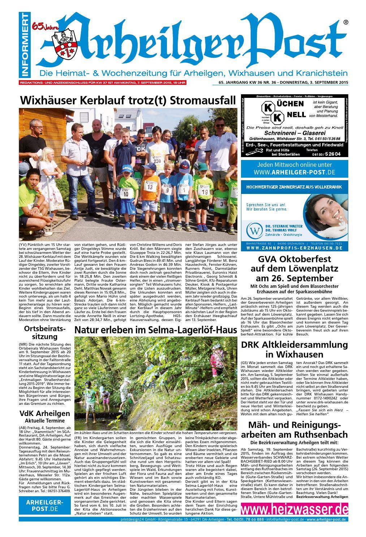 Arheilger Post KW36 by printdesign24gmbh - issuu