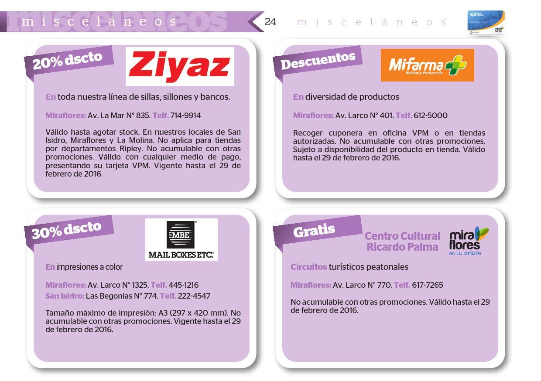 Revista Vpm By Municipalidad De Miraflores Issuu Circuitos Miscelaneos