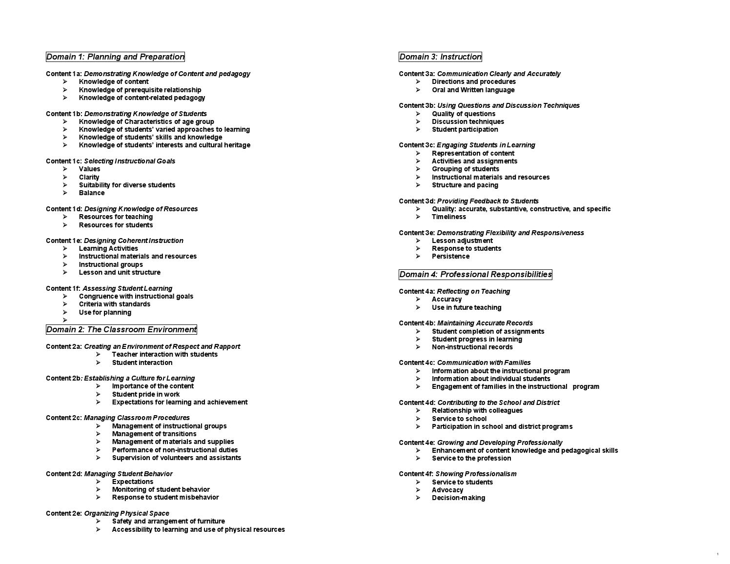 24 Evaluation Content Standards By Caleb Ivanitsky Issuu