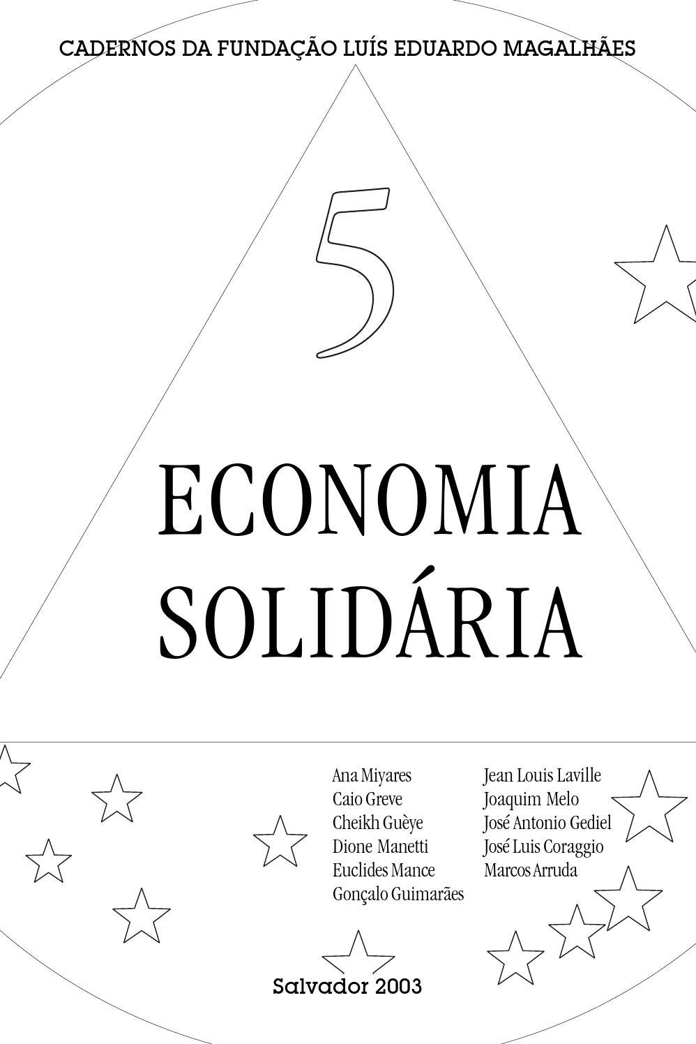 economia solid u00e1ria by funda u00e7 u00e3o lu u00eds eduardo magalh u00e3es