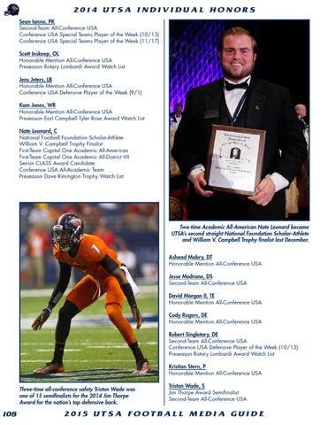 dc6db946b 2015 UTSA Football Media Guide by UTSA Athletics Communications - issuu