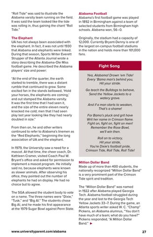 University of Alabama 2015 Family Weekend Guide