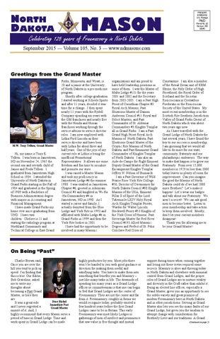 North dakota mason september 2015 volume 105 no 3 by ndmason page 1 north dakota mason m4hsunfo
