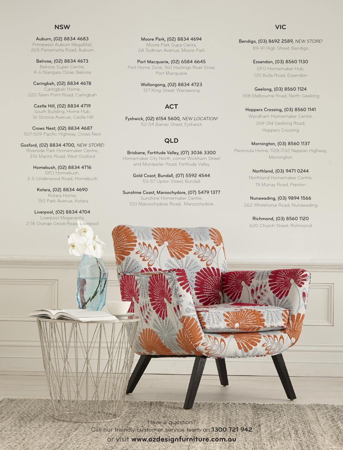 Oz design furniture summer 15 16 directory