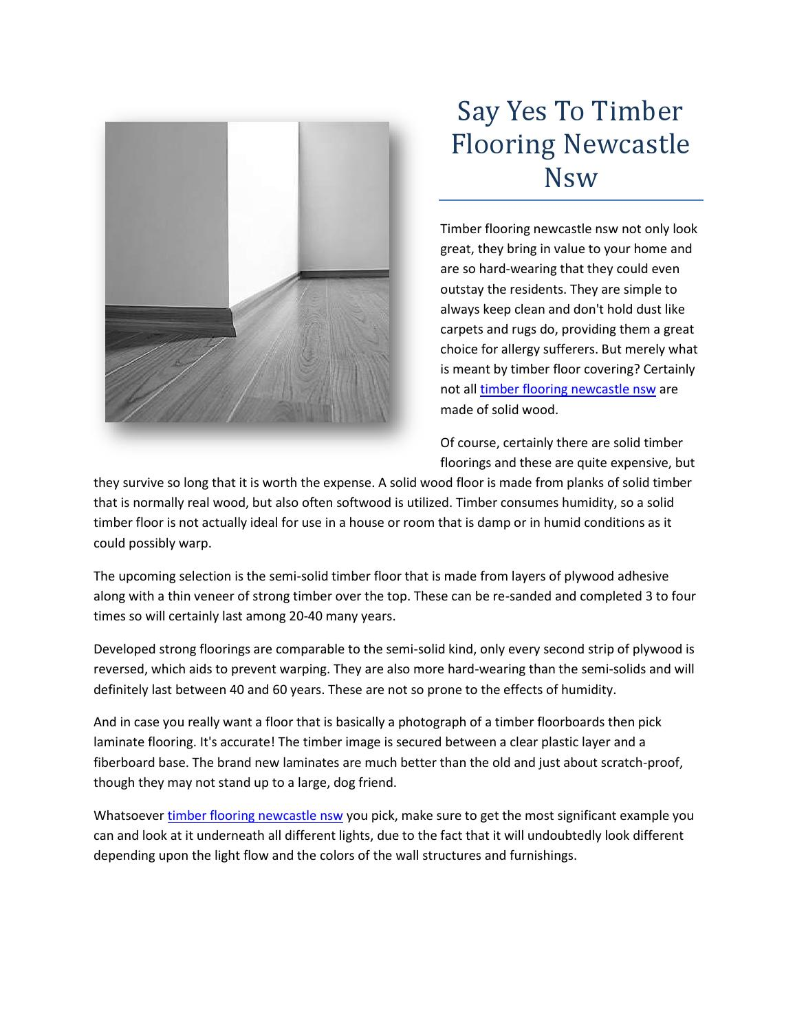 Say Yes To Timber Flooring Newcastle Nsw By Lakeside
