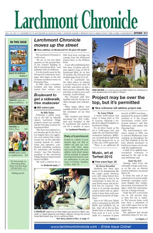 Lc Issue 9 15 100 By Larchmont Chronicle Issuu