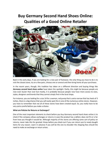 c7da121fae6953 Buy Germany Second Hand Shoes Online  Qualities of a Good Online Retailer