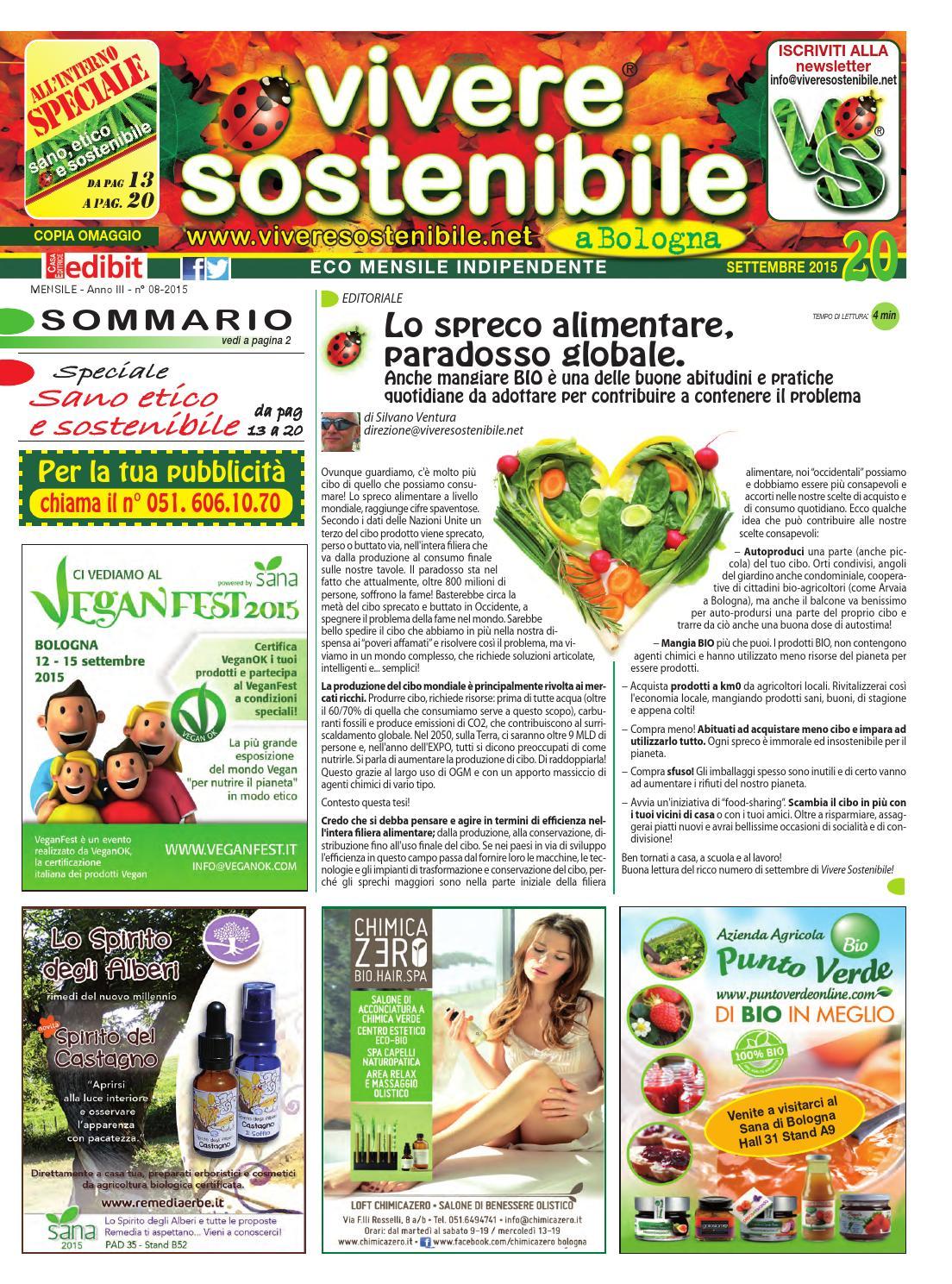 Vivere Sostenibile A Bologna N 20 Settembre 2015 By Edibit Vivere Sostenibile Issuu