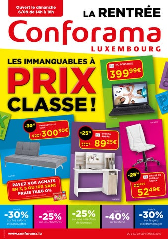 doc 04 les immanquables prix classe by conforama luxembourg issuu. Black Bedroom Furniture Sets. Home Design Ideas