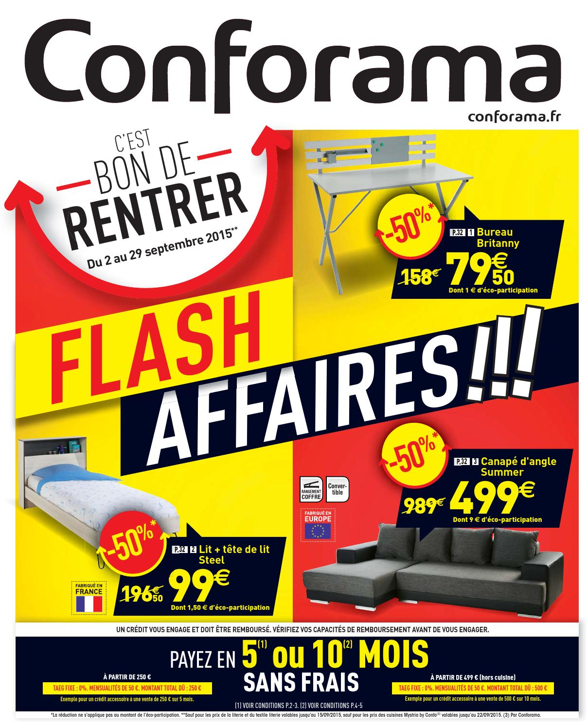 Conforama catalogue 2 29septembre2015 by PromoCatalogues.com ...