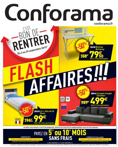 conforama catalogue 2 29septembre2015 by issuu. Black Bedroom Furniture Sets. Home Design Ideas