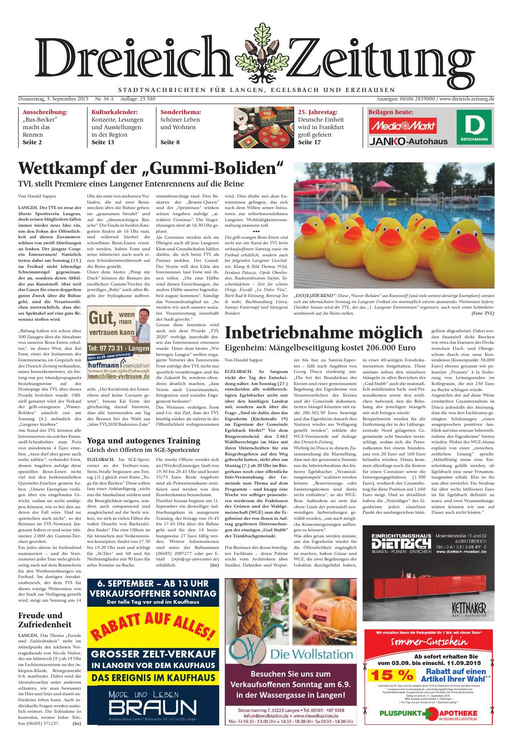 Dz online 036 15 a by Dreieich Zeitung fenbach Journal issuu