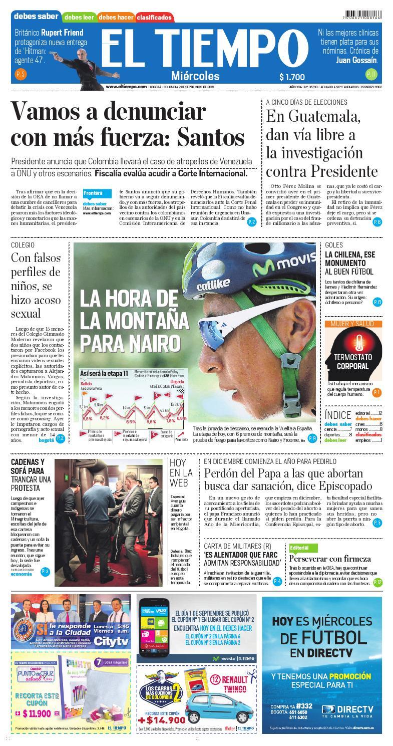 EL TIEMPO 02/09/2015 by Andres A. - issuu