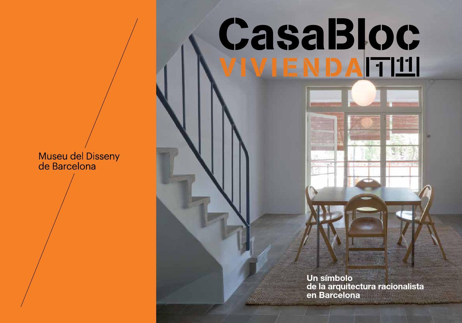 Folleto Piso Museo De La Casa Bloc Vivienda 1 11 Museu Del  # Muebles Pique Lleida