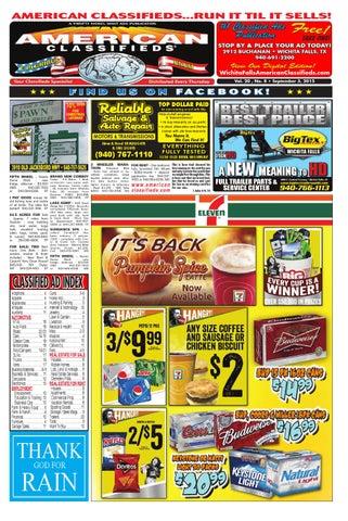 8a8369f36 Digital edition 09 3 15 by Wichita Falls American Classifieds - issuu