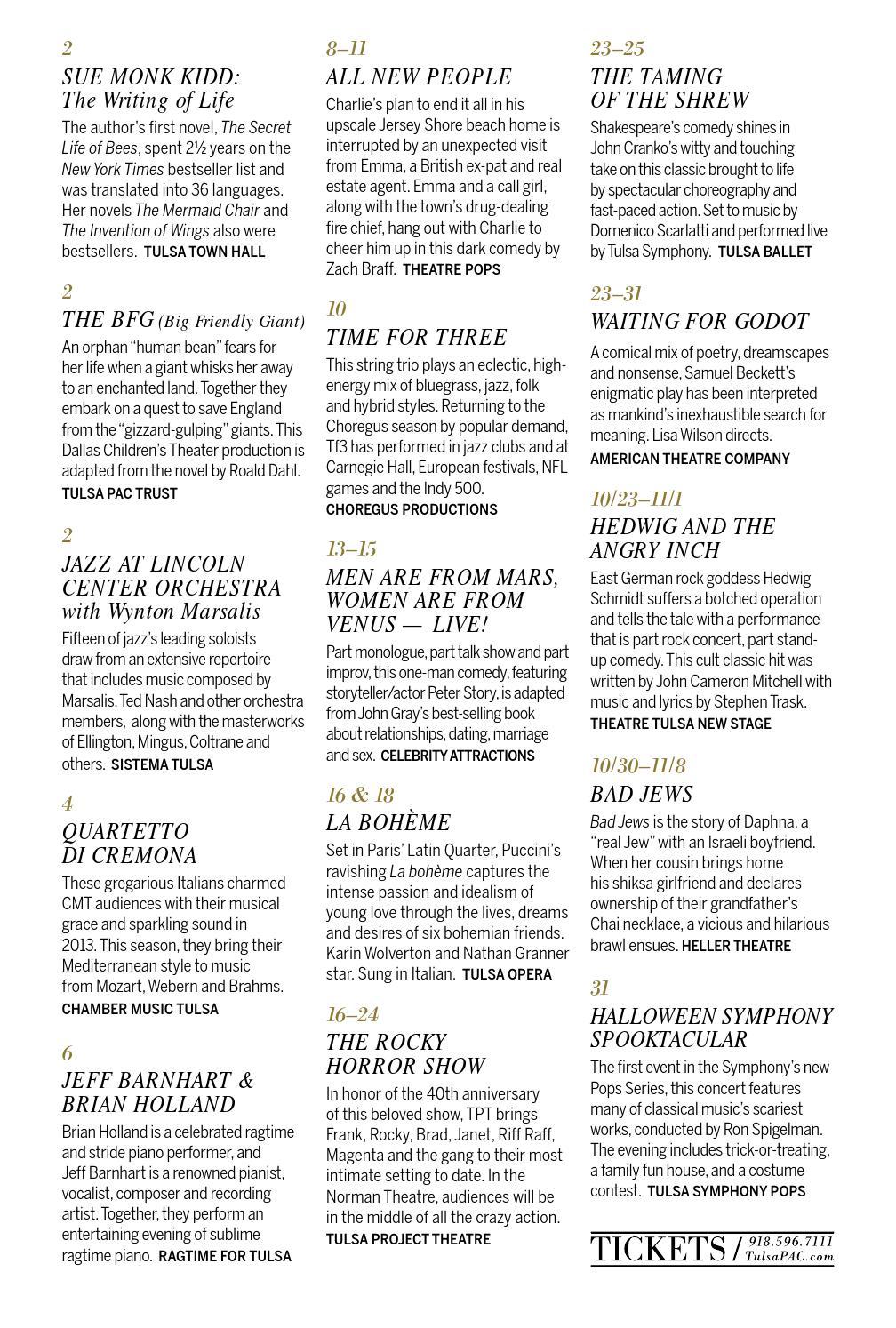 2015-16 Season Brochure by Tulsa Performing Arts Center - issuu