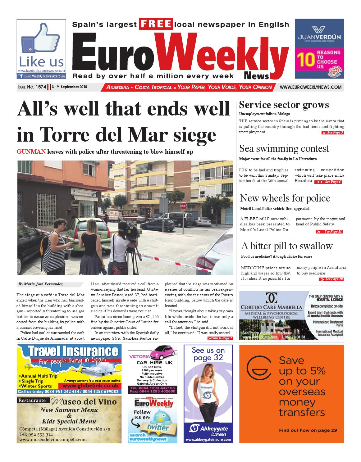Euro Weekly News Axarquia 3 9 September 2015 Issue 1574 By  # Muebles Union Castellana