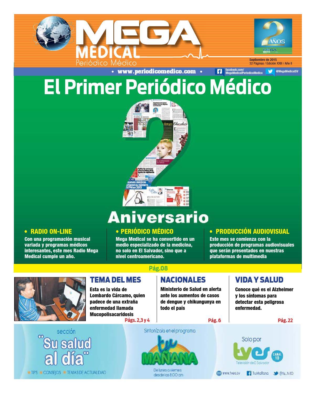 Edición 23 Septiembre 2015 by Mega Medical Periódico Médico - issuu