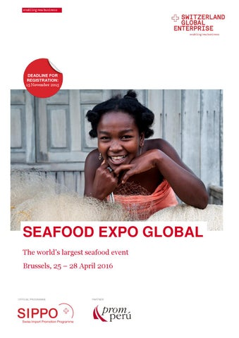 Fact sheet seafood expo global 2016 by Switzerland Global Enterprise