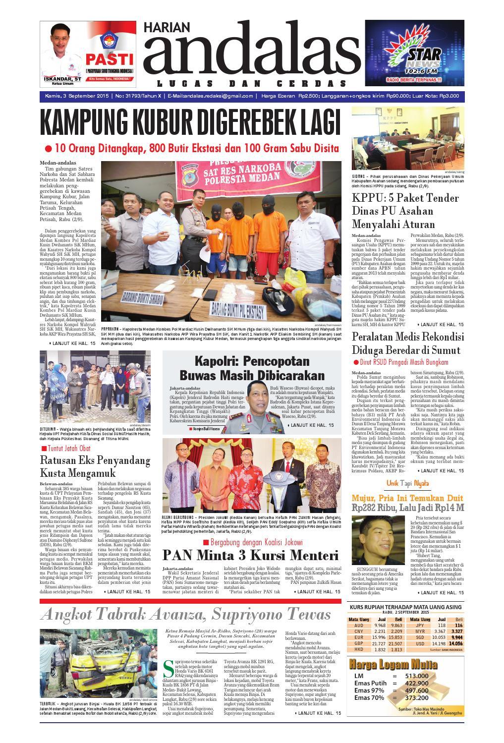Epaper andalas edisi kamis 3 september 2015 by media andalas - issuu cd7c85f978