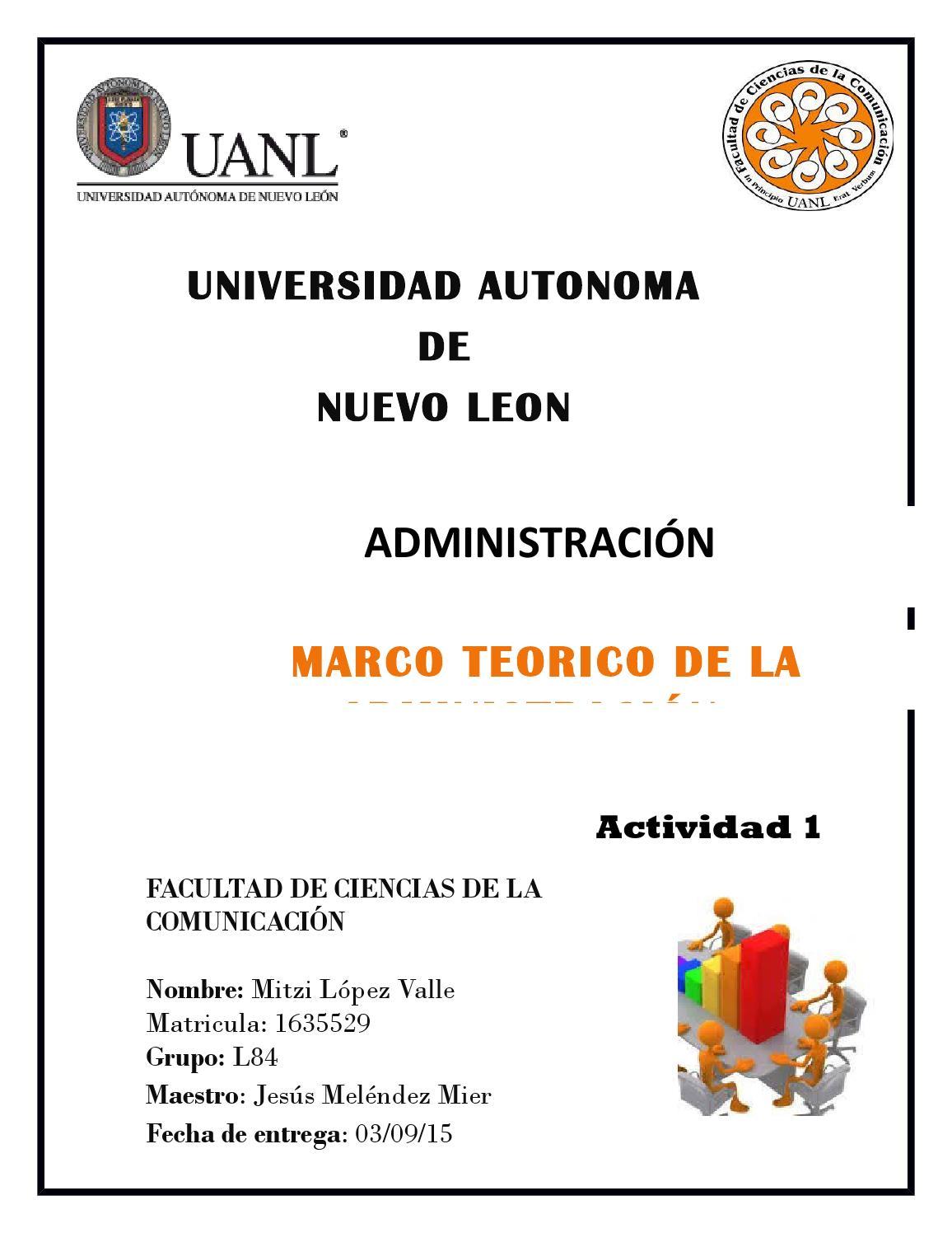 Marco teorico de administracion by Mitzi Lopez - issuu