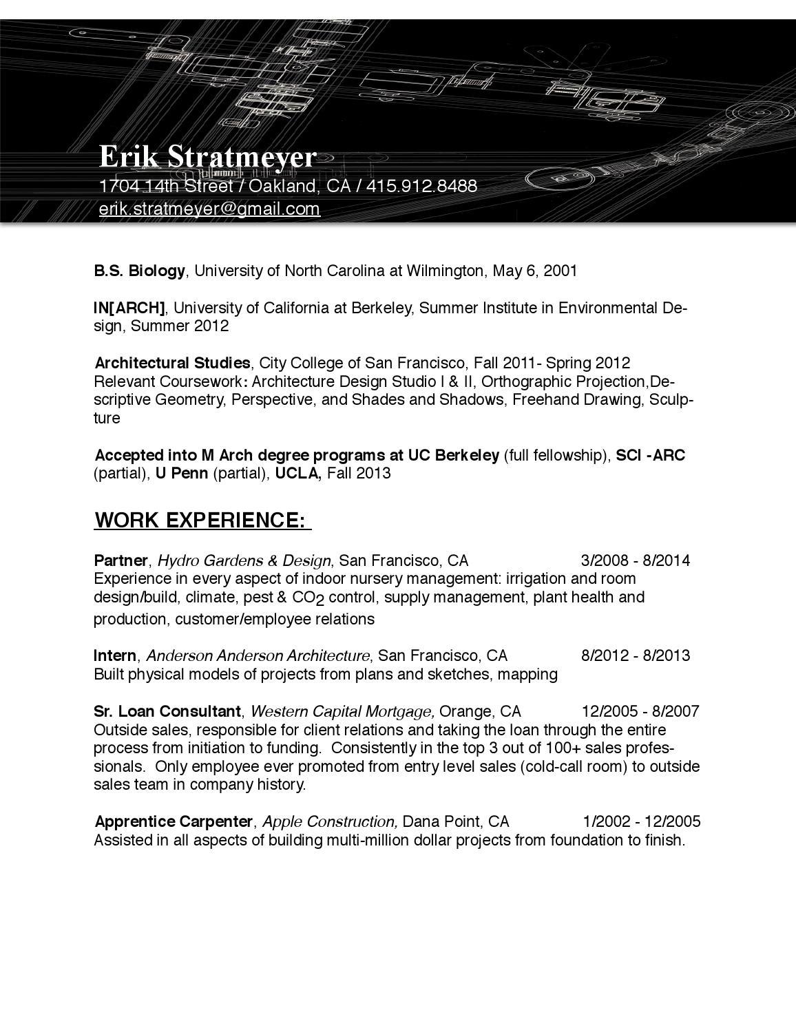 erikstratmeyer resume by erik stratmeyer
