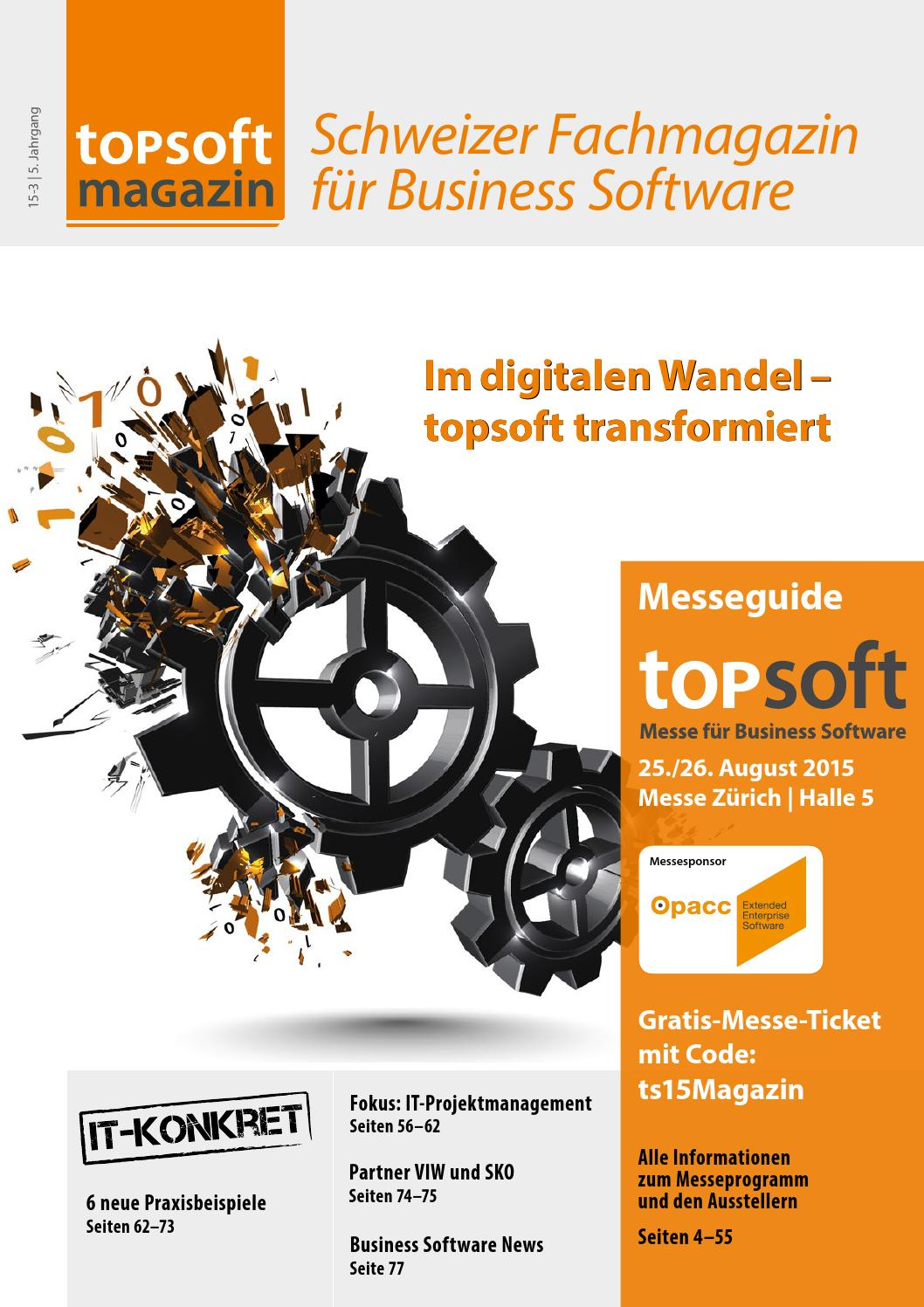 topsoft Magazin 15-3 (inkl. Messeguide topsoft 15) by topsoft - issuu