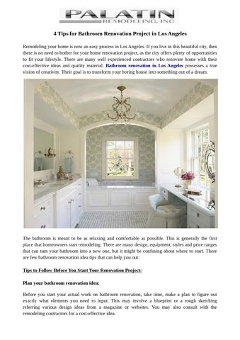 48 Tips For Bathroom Renovation Project In Los Angeles By Unique Bathroom Remodeling In Los Angeles Plans