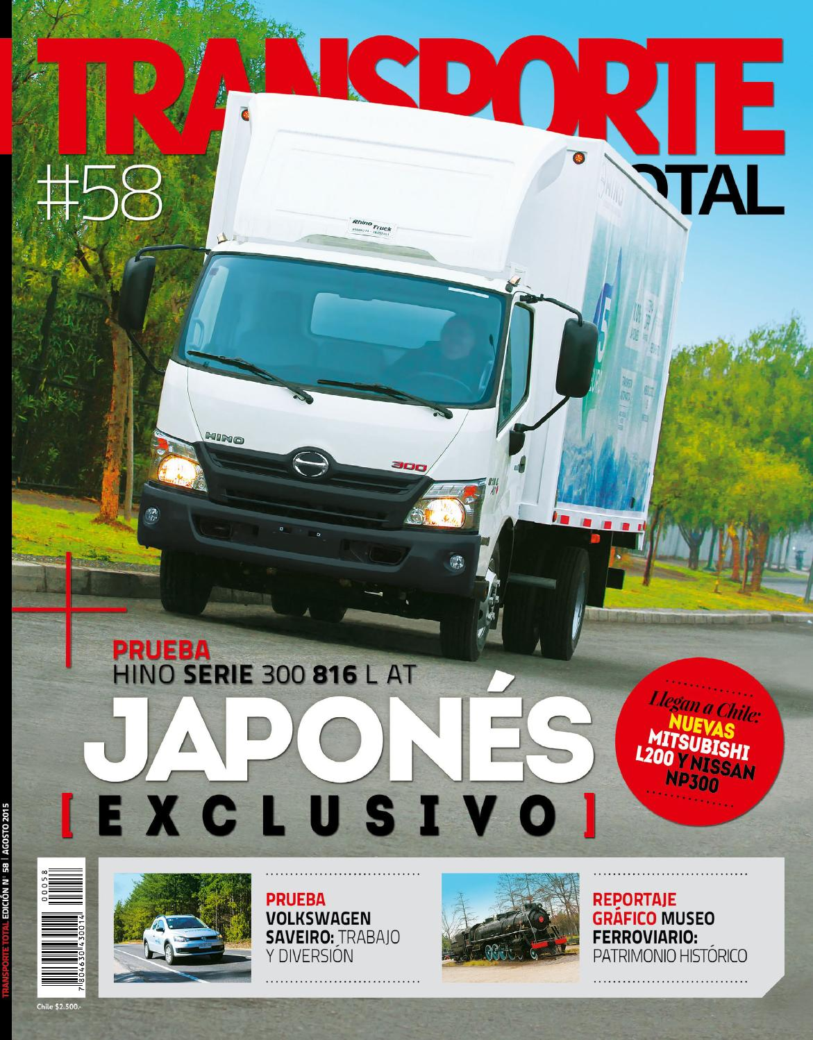 Revista Transporte Total Nº 58 (Agosto 2015) by RS Chile - issuu