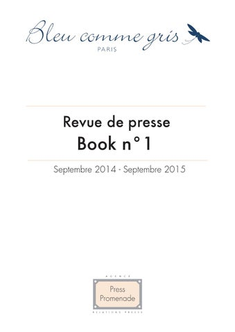 Revue de Presse Bleu comme gris Book n°1 by Claire CORREIA SANTOS ... cac02e1be59