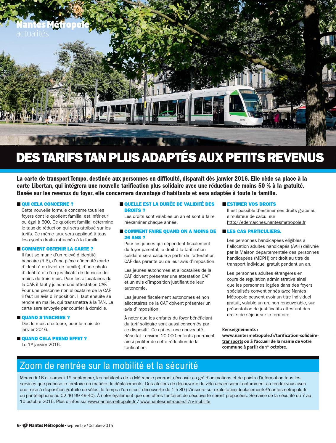 Journal Nantes Metropole N 59 Septembre Octobre 2015 By Nantes