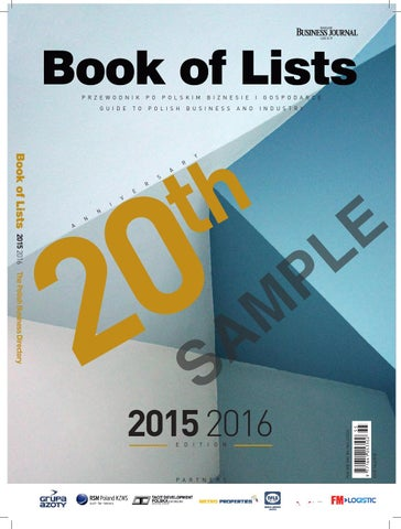 Book Of Lists Warsaw Business Journal Group
