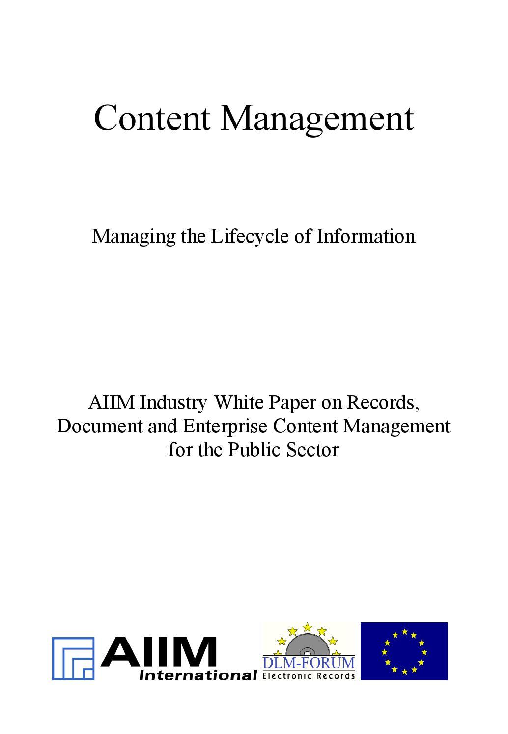 EN] DLM Forum Industry Whitepaper 03 | Content Management ...
