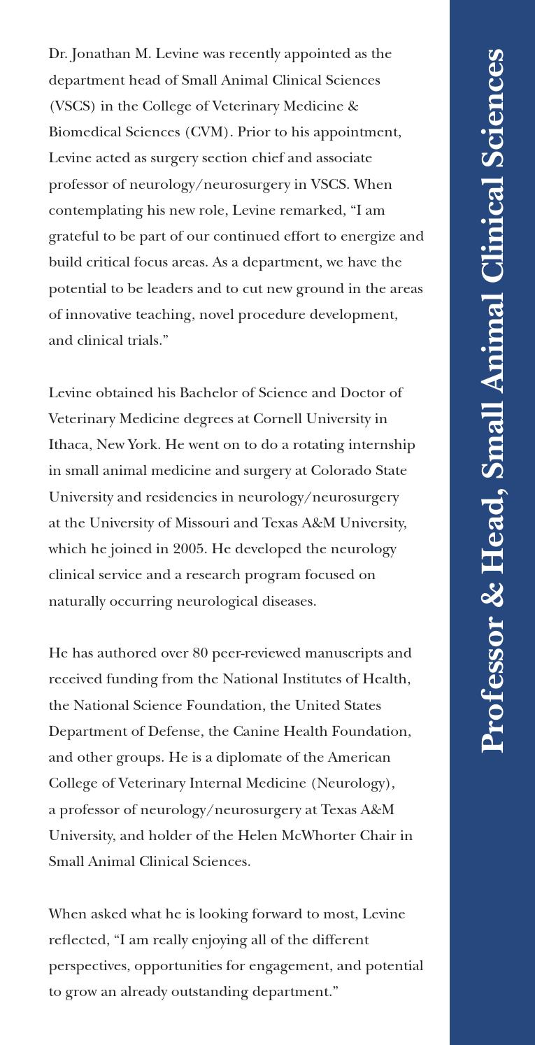 2015 New Faculty by Texas A&M College of Veterinary Medicine