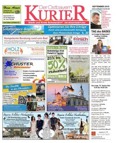 Nord Ostbayern Kurier September 2015 By Medienverlag Hubert Suss Issuu