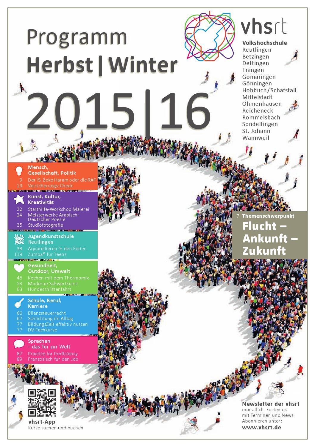 Programm Herbst/Winter 2015|16 by Volkshochschule Reutlingen - issuu