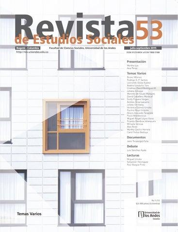 f79b63733ab2 Revista Estudios Sociales No. 53 by Publicaciones Faciso - issuu