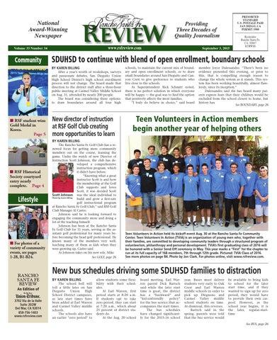 f1a6765b6f2 Rancho santa fe review 9 3 15 by MainStreet Media - issuu