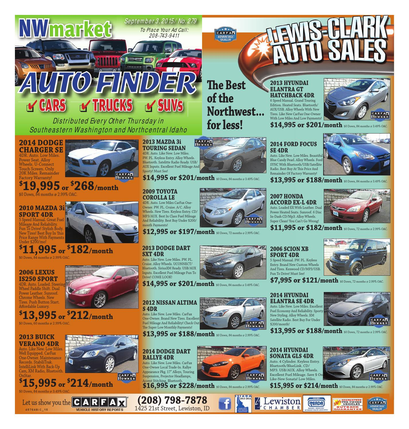 Auto Finder, Sept. 3, 2015 By Lewiston Tribune