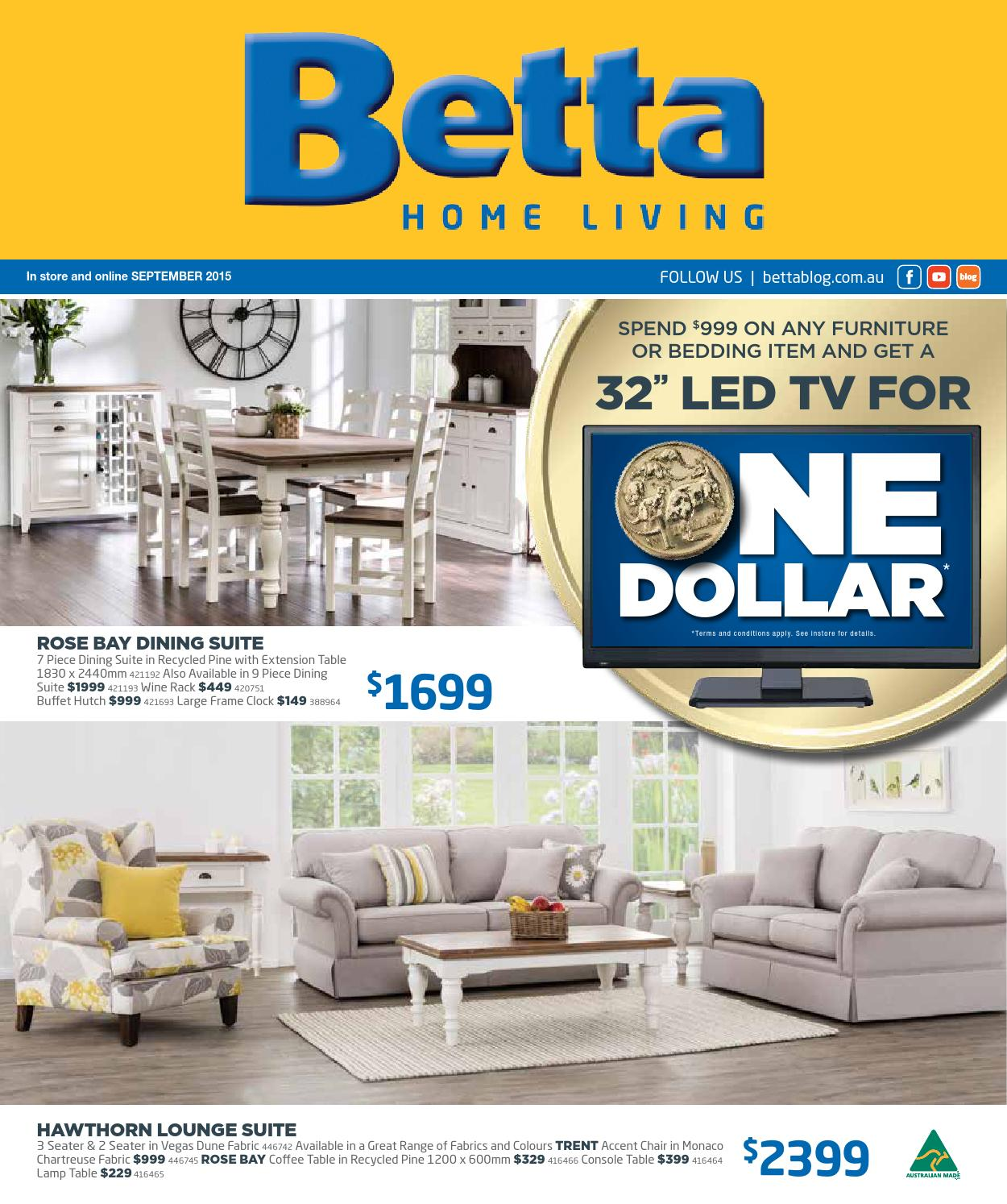 Betta Home Living Furniture Catalogue Sep 2015 By Echo Publications Issuu