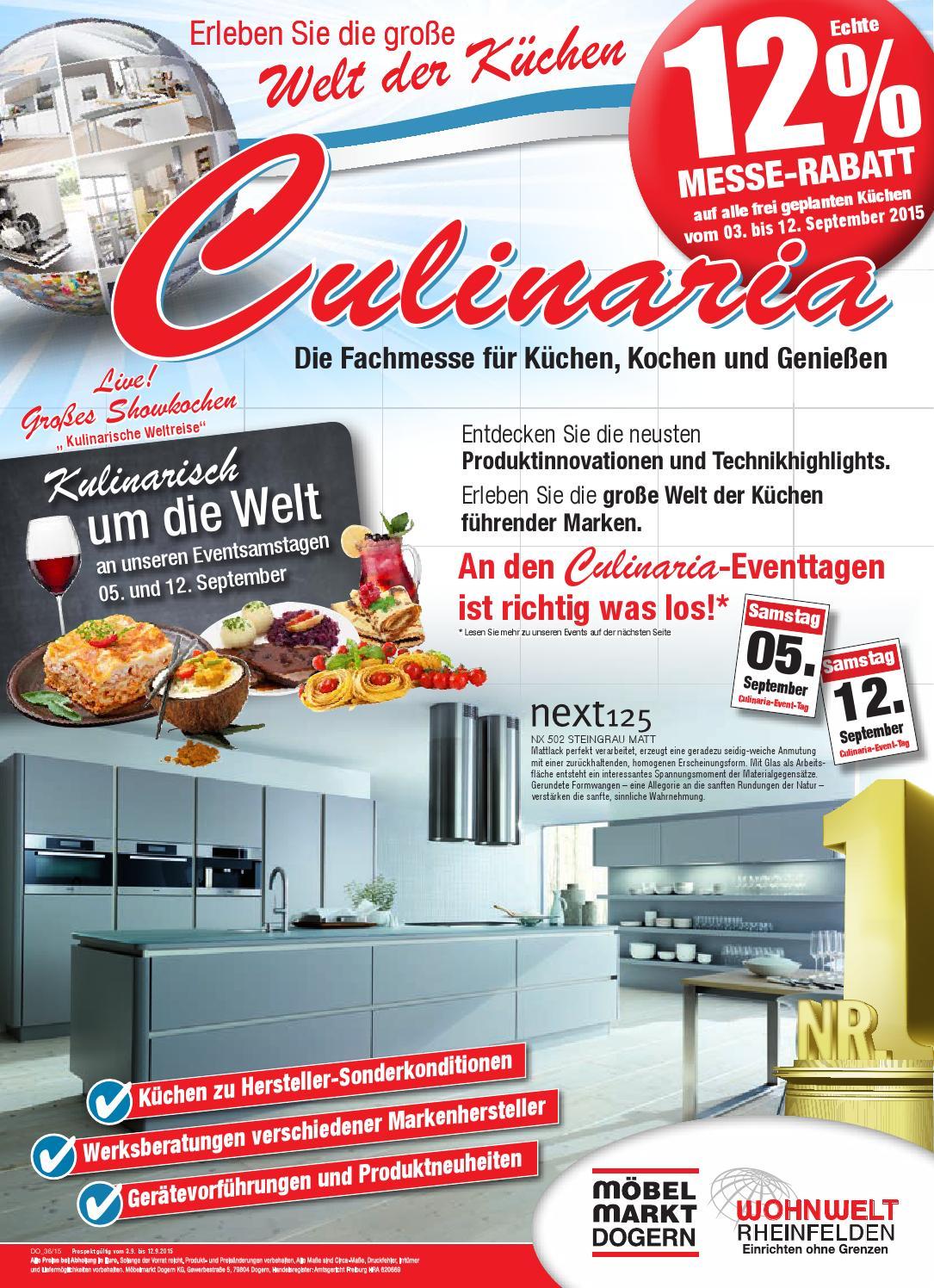 Culinaria Möbelmarkt Dogern By Az Eprospekte Issuu
