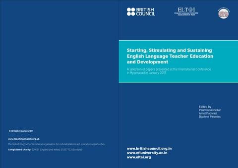 TEC11: Starting, Stimulating And Sustaining English Language Teacher ...