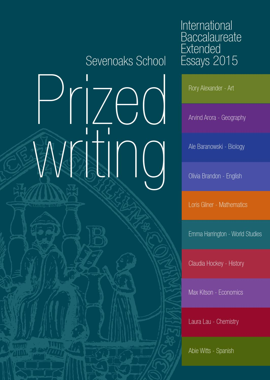 international baccalaureate extended essays