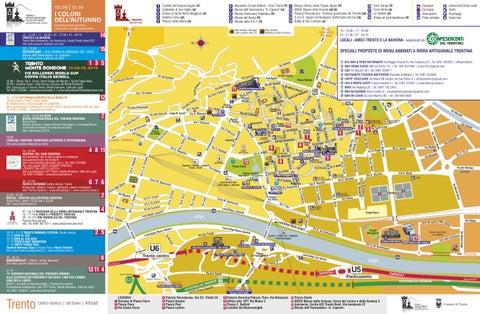 Mappa eventi Trento I COLORI DELLAUTUNNO 2015 by Tourist Board