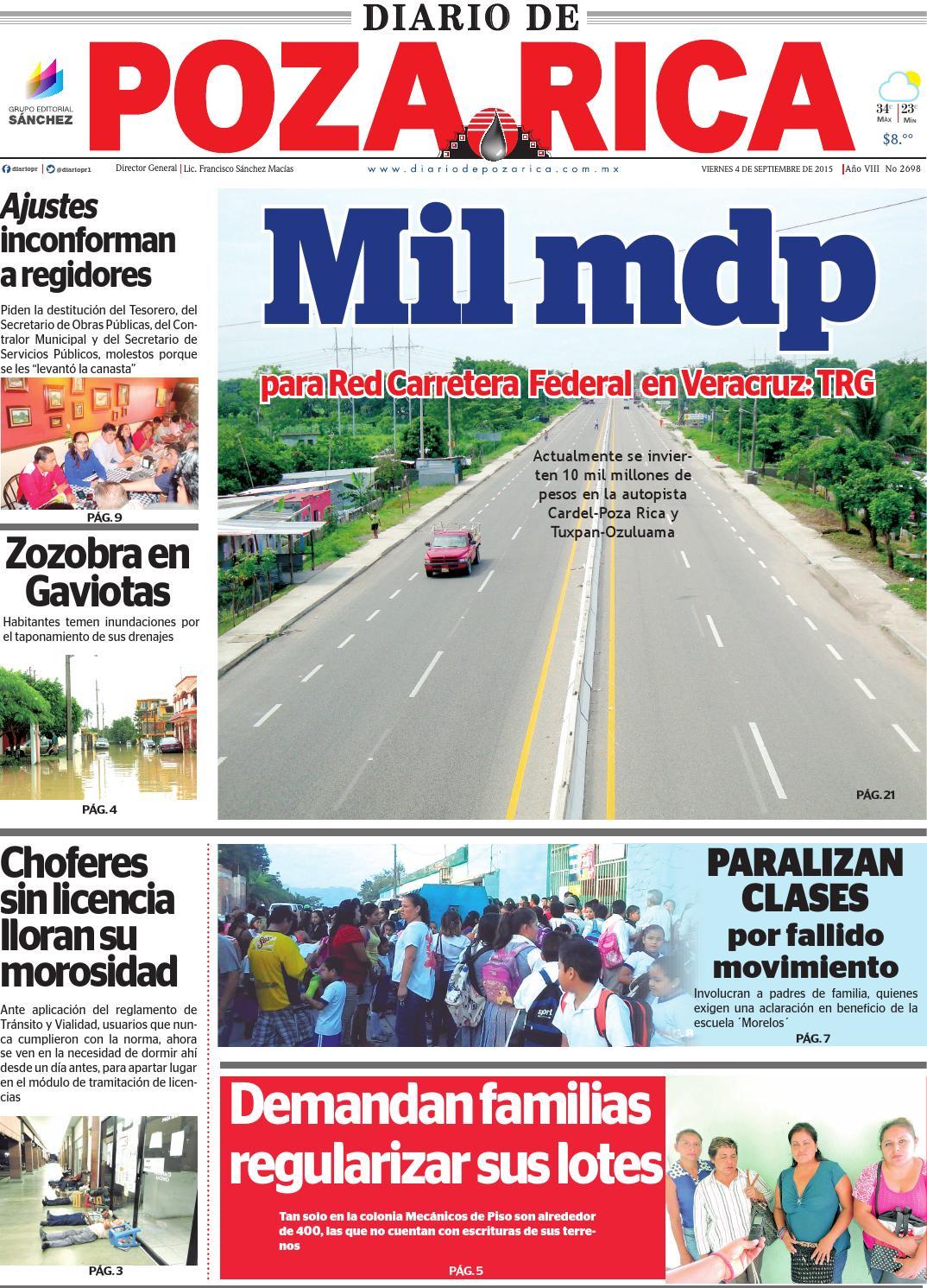diario de poza rica 4 de septiembre de 2015 by diario de