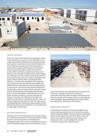 SA Affordable Housing September - October 2015 | Issue: 54