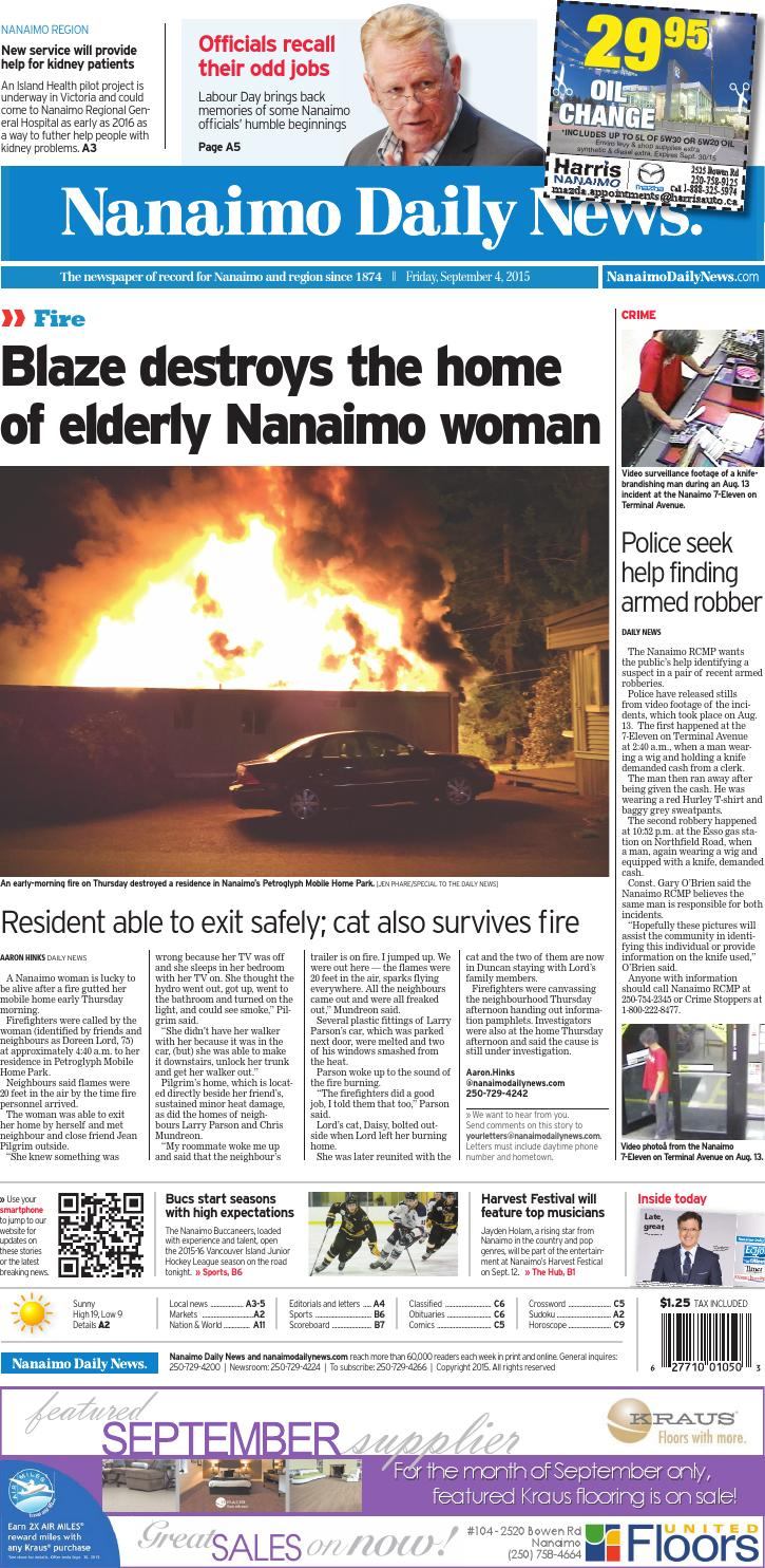Nanaimo Daily News September 04 2015 By Black Press Issuu Roadmaster Tow Bar Wiring Rm152led